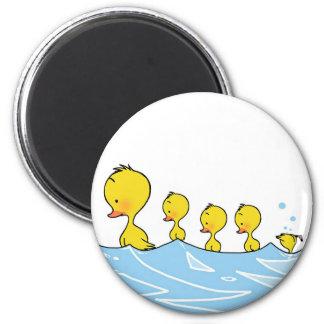 imán del pato de la familia