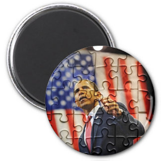Imán del pedazo del rompecabezas de Obama