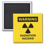 Imán del peligro de radiación