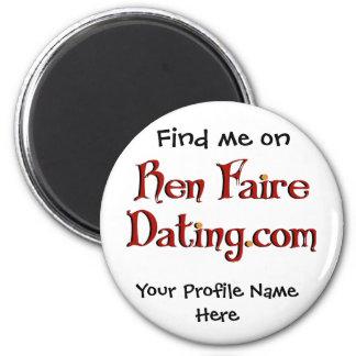 Imán del perfil de la datación de Ren Faire