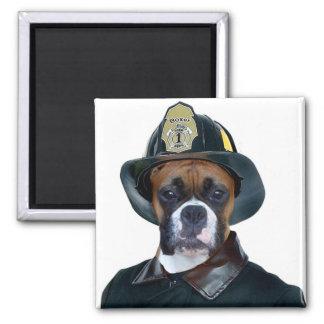 Imán del perro del boxeador del bombero