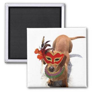 Imán del perro del Dachshund del carnaval