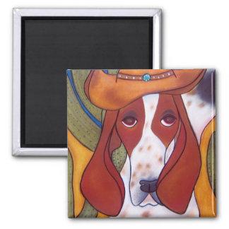 imán del perro del desierto de Bungalowart.com