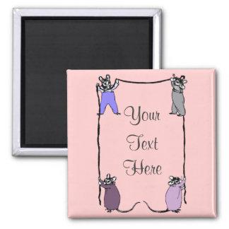 Imán del personalizable del amor del ratón