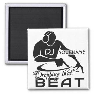 Imán del personalizado de DJ