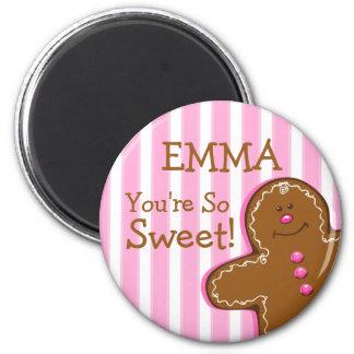 Imán del personalizado de Gingergread del azúcar y