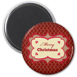 Imán del personalizado de las Felices Navidad