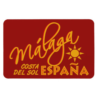 Imán del personalizado de Málaga España