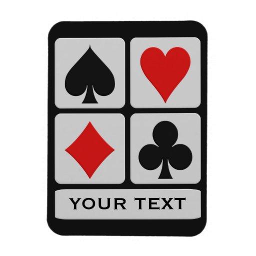 Imán del personalizado del jugador de tarjeta