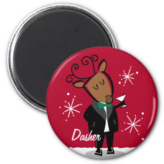 Imán del personalizado del reno de Dasher