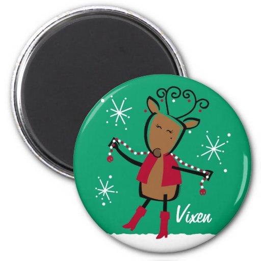 Imán del personalizado del reno del Vixen