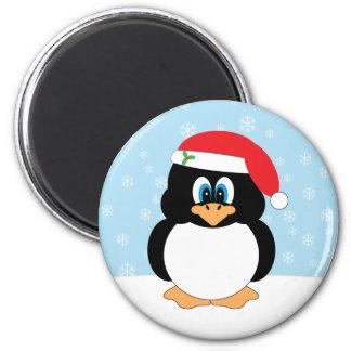 Imán del pingüino del navidad