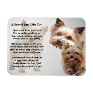 Imán del poema del amigo de Yorkshire Terrier