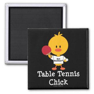 Imán del polluelo de los tenis de mesa