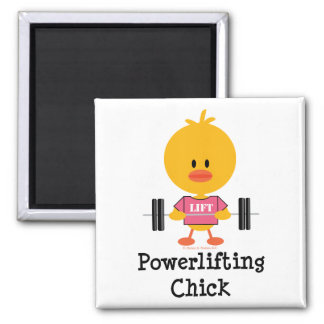 Imán del polluelo de Powerlifting