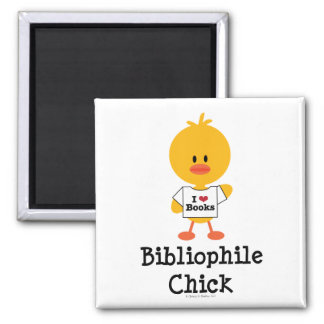 Imán del polluelo del bibliófilo