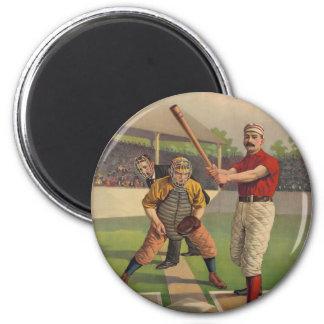 Imán del poster del béisbol del vintage