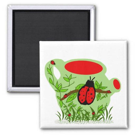 Imán del pote del té del insecto de la señora