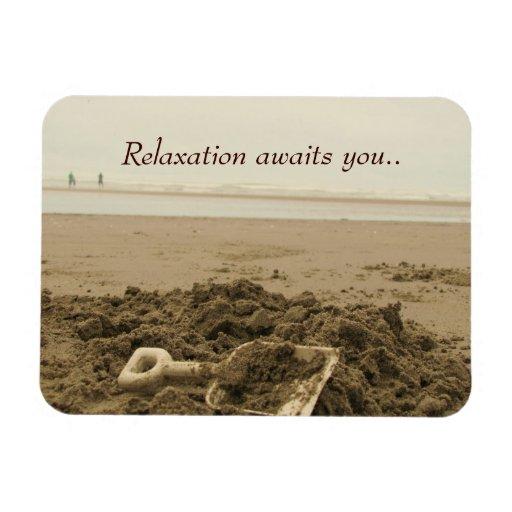Imán del premio de la playa de la relajación