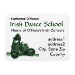 Imán del premio de la tarjeta de visita de la danz