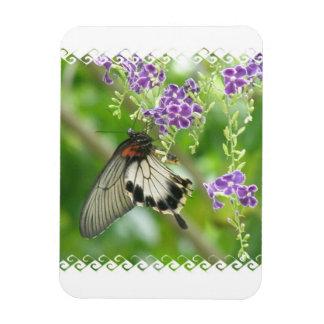 Imán del premio de las mariposas y de las flores