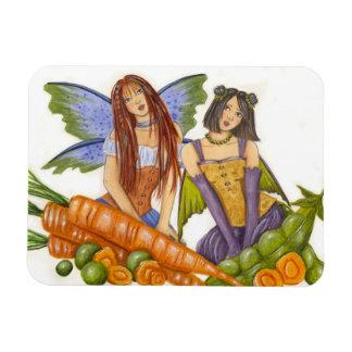 Imán del premio de los guisantes y de las zanahori