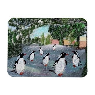 Imán del premio de Winterwonderland del pingüino