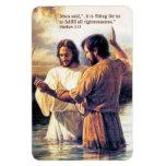 Imán del premio del bautismo del Jesucristo