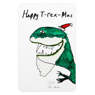 Imán del premio del navidad T-Rex-Mas