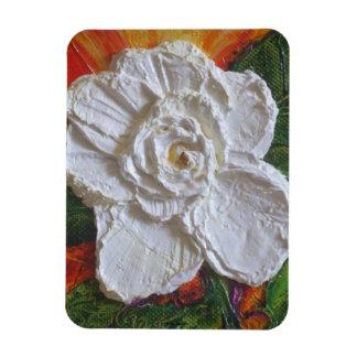 Imán del premio del rosa blanco