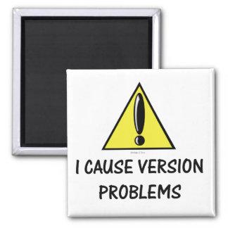 Imán del problema de la versión