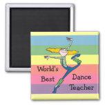 Imán del profesor de la danza