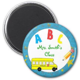 Imán del profesor del autobús escolar de la turque