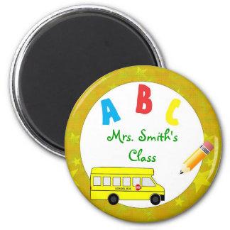 Imán del profesor del autobús escolar del oro