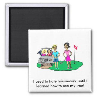 Imán del quehacer doméstico y del dibujo animado d