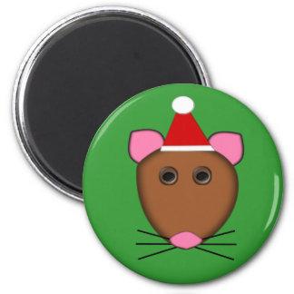 Imán del ratón de las Felices Navidad