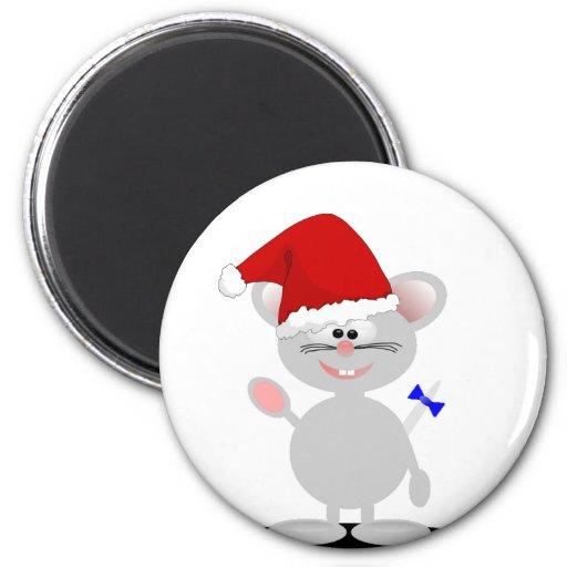 Imán del ratón del navidad