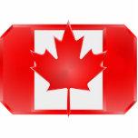 Imán del recorte del escudo de la bandera de Canad Escultura Fotográfica
