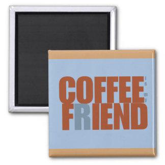 Imán del rectángulo del demonio del café