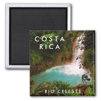 Imán del recuerdo de Costa Rica Río Celeste