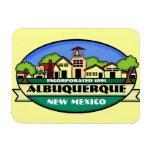 Imán del recuerdo de la ciudad de Albuquerque New