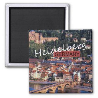Imán del recuerdo de la foto del viaje de Heidelbe
