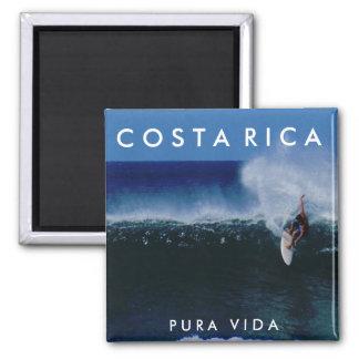 Imán del recuerdo de la resaca de Costa Rica Pura