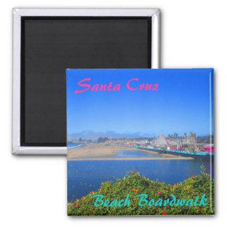 Imán del recuerdo del paseo marítimo de la playa d