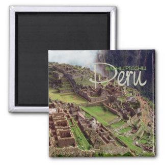 Imán del recuerdo del viaje de PICCHU Perú de MACH