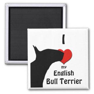 Imán del refrigerador de bull terrier del inglés