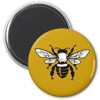 Imán del refrigerador de la abeja de Mellifera de