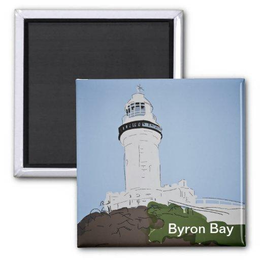 Imán del refrigerador de la bahía de Byron