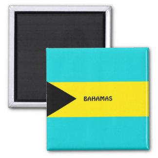 Imán del refrigerador de la bandera de Bahamas