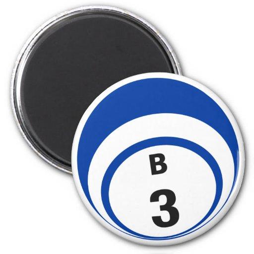 Imán del refrigerador de la bola del bingo B3
